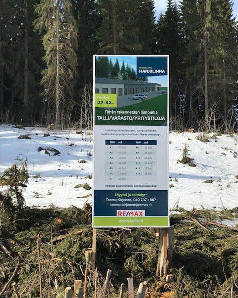 Kiinteistö Oy Harjulinna, huhtikuu 2018: Lumien sulaessa maatyöt alkavat