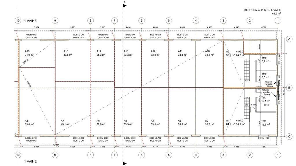 Kangasala: Kalliolinnan talliosakkeet pohjakuvat